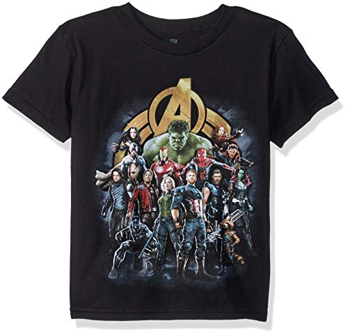 Marvel Boys' Avengers Infinity War Super Group Short Sleeve T-Shirt