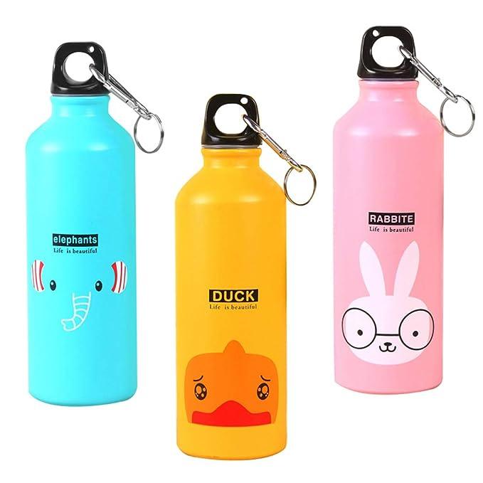 Botella de agua de aluminio con dibujo de animal Originaltree, portátil, para viajes, deportes, correr, capacidad de 500 ml, tamaño *Deer: Amazon.es: Hogar