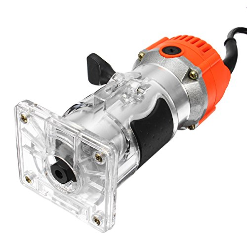 Laminate 0.25 - Raitool 800W 30000RMP Electric Hand Trimmer Variable Speed 1/4 Inch Corded Wood Laminate Palm Router