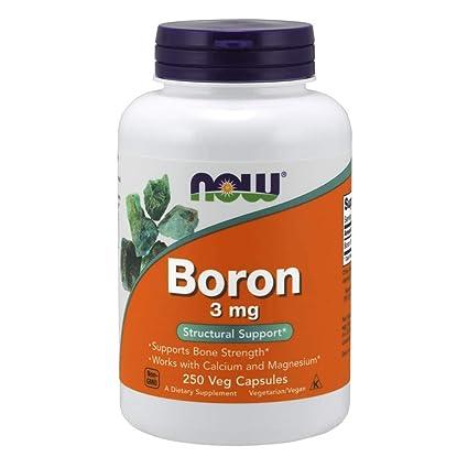 Foods | Boro (Boron) | 3 mg | 250 Cápsulas | sin gluten y
