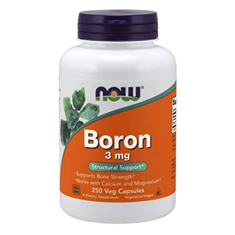 Foods | Boro (Boron) | 3 mg | 250 Cápsulas | sin gluten y soja
