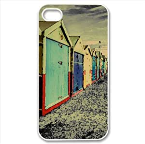 Rainbow of Huts Watercolor style Cover iPhone 4 and 4S Case (United Kingdom Watercolor style Cover iPhone 4 and 4S Case)