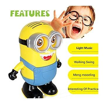 b4f258b7fd9 20 CM Minion Singing   Dancing Minion Battery Operated Musical Flashing  Light Minions Toy Funny Moving