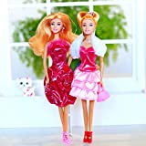 Butterfly Craze Doll Clothes – Princess Doll Set with Accessories Including Dolls, Outfits, Shoes, Puppy, Mirror & More - Quality, Style and Fun Gift for Little Girl's Birthday and Christma (21 PCS)