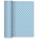 Maxi Products Tovaglia di Carta per Feste con Decorazioni a Stella - Colore Blu Baby - Ideale per Feste per Bambini, docce per Bambini, Compleanni, comunioni o Battesimi - 1,2 x 5 m (Blu)