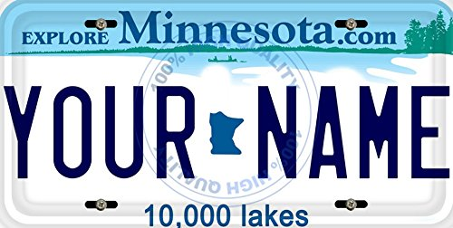 (BleuReign(TM) Personalized Custom Name Minnesota State Car Vehicle License Plate Auto Tag (ALL STATES AVAILABLE) )