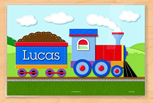 (Personalized Train Placemat by Art Appeel, 18 x 12 inches, Laminated)