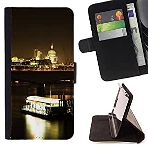 BullDog Case - FOR/LG Nexus 5 D820 D821 / - / Night Ferry /- Monedero de cuero de la PU Llevar cubierta de la caja con el ID Credit Card Slots Flip funda de cuer