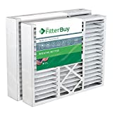 filterbuy 20x25x5 honeywell fc100a1037 compatible pleated ac furnace air filters pack of 2 afb platinum merv 13