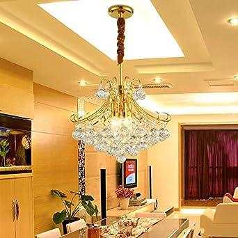 CIFFOST/®K9 Crystal Lustres Moderne Minimaliste LED Salon Lampe Maison D/ÉCoration /ÉClairage Chambre Salle /À Manger Salle De Foyer Rayon Cristal Plafonniers Argent