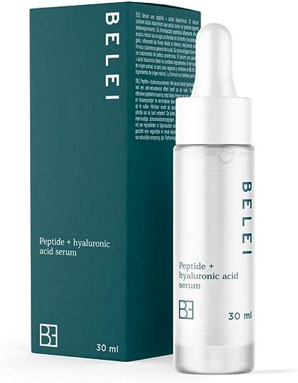Oferta amazon: Marca Amazon - Belei - Sérum con péptido y ácido hialurónico, 96.6% ingredientes naturales, vegano, 30 ml
