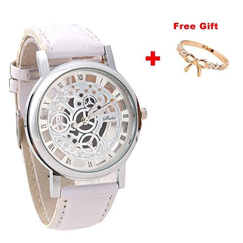 Luxury Watch,Han Shi Men Fashion Quartz Wristwatch Military Sport Leather Band Dial Clock (Large, B)