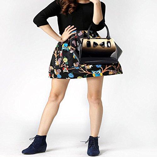 TrendStar Frauen neuer Designer-Handtaschen Damen Berühmtenart Kunstleder Taschen B - Nackt