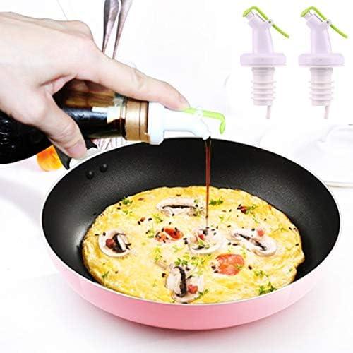 Nologo Leche Botella Casquillo 2 PCS Cocina Salsa for aderezo de Soja vinagre condimento Tarro de Tapa de la Botella de líquido Anti-Cho Botella de Beber a Prueba de Fugas LUOJIALI: Amazon.es:
