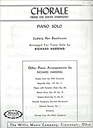 Chorale From the Ninth Symphony Piano Solo: Richard Harding