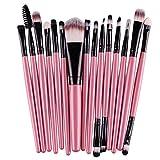Makeup Brush, Hatop 15 pcs/Sets Eye Shadow Foundation Eyebrow Lip Brush Makeup Brushes Tool (Pink)