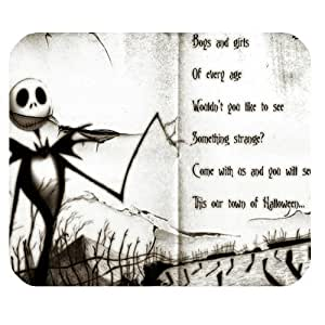Mystic Zone The Nightmare before Christmas Jack Skellington Rectangle Mouse Pad (Black) - MZM00084 by mcsharks