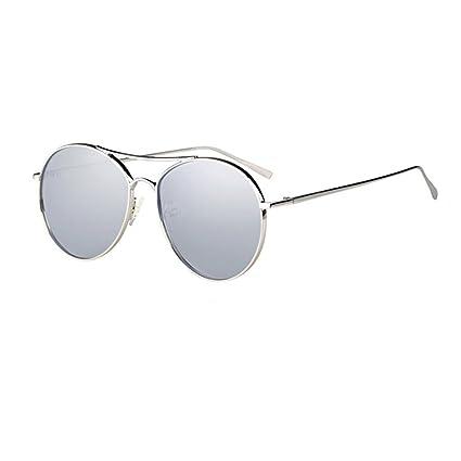 Gafas de Sol Informal de Moda Personalidad, polarizado antideslumbrante protección UV HD, Resina Redonda