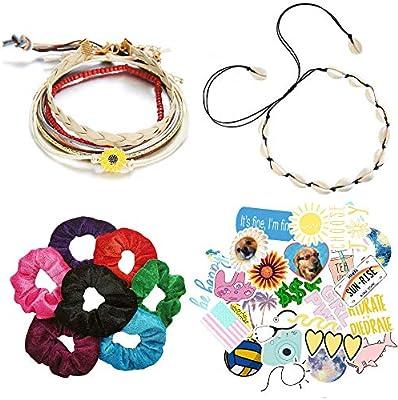 VSCO Pack de iniciación para niña, 1 collar de concha, 5 pulseras ...