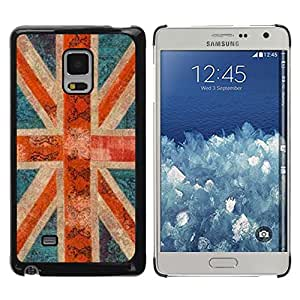 FlareStar Colour Printing England Great Britain Rustic Gb London cáscara Funda Case Caso de plástico para Samsung Galaxy Mega 5.8 / i9150 / i9152