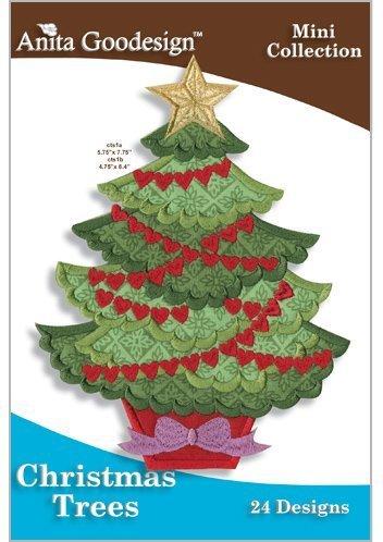 Tree Embroidery Design - Anita Goodesign ~ Christmas Trees ~ Embroidery Designs