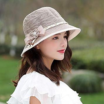 Summer Straw Flowers Pot Cap For Women Sun Visor Breathable Folding Beach Hat