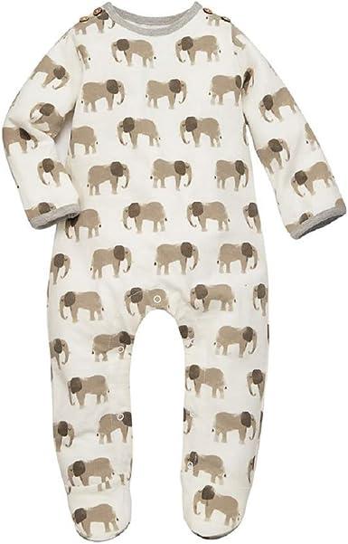 Mud Pie Baby Infant Elephant Footed Long Sleeve Sleeper