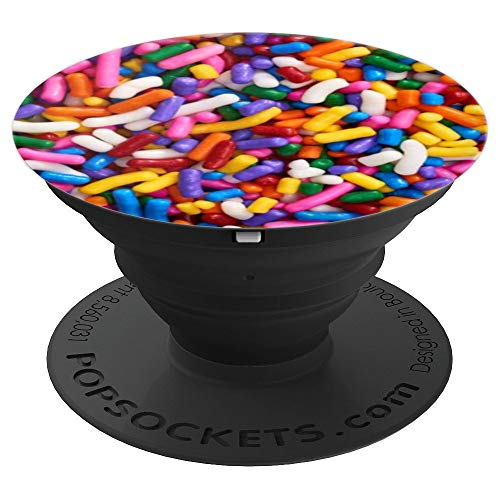 Sprinkles Cake Colorful Rainbow Dessert Pattern Print Gift PopSockets Grip and Stand for Phones and Tablets