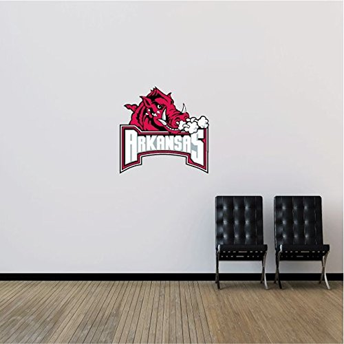 Arkansas Razorbacks NCAA USA Logo Combo College Sport Art Wall Decor Sticker 23'' x 22'' by postteam