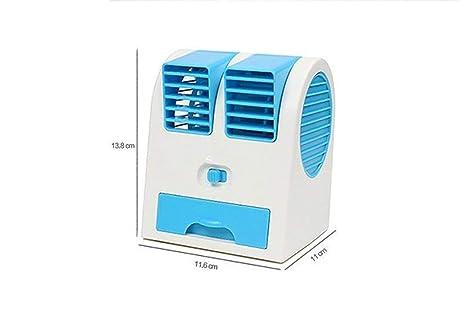 Generic USB Mini Portable Handheld Air Conditioner Cooler Fan Color Blue Pedestal Fans