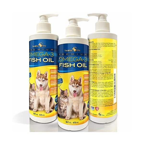 TerraMax Pro Liquid Omega-3 Fish Oil for Dogs and Cats, 16 Fl. Oz.