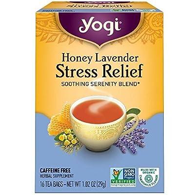 Yogi Tea Herbal Stress Relief, Honey Lavender 16 ea Pack of 2