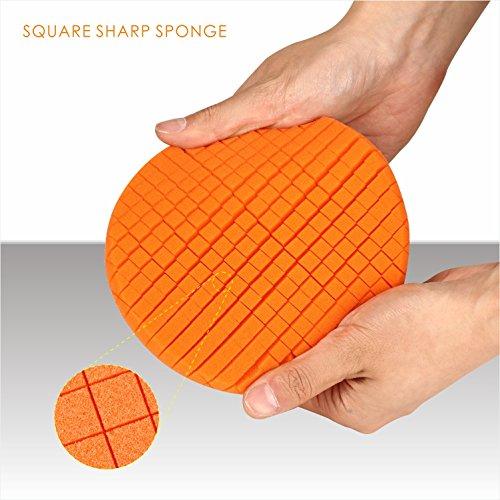 SPTA 5Pcs 7''/180mm Compound Buffing Sponge Pads Polishing Pads Kit Buffing Pad For Car Buffer Polisher Sanding,Polishing, Waxing by SPTA (Image #5)
