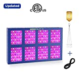 1200W LED Plants Growing Lamps,MEIZHI Reflector Grow Light Full Spectrum Dual Switches Daisy Chain for Hydroponic Greenhouse Tent Indoor Veg Flowers- 240pcs LEDs,UL Certificated,Aluminum Heat Sink