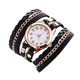 Wrist Watches for Women Under 5 ❤ Fashion Bracelet Watch Weave Leather Bracelet Lady Women Wrist Watch BK
