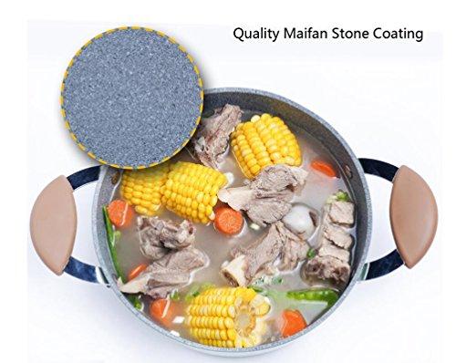 LF DD Sopa olla estofado olla 24cm Maifan piedra cocina de inducción sopa antiadherente espesar fideos regalo del día del padre día de la madre: Amazon.es: ...