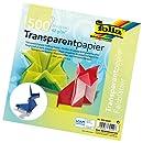 Folia Semi-Transparent Origami Paper 8-Inch-By-8-Inch Bulk Pack 500 Sheets