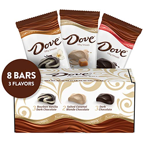 - DOVE Chocolate Bars Full Size Variety Mix, 3.30-Ounce Bars 8-Count Gift Box