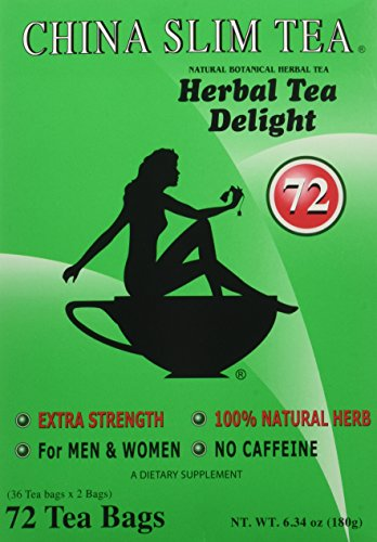 China Slim Tea Extra Strength For Men and Women 72 Tea Bags ()