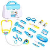 Seilent Kids Doctors Set Medical Doctor Play Kit for Children Toddler Toy Medical Case Role Play Sets with 15 PCS Accessories