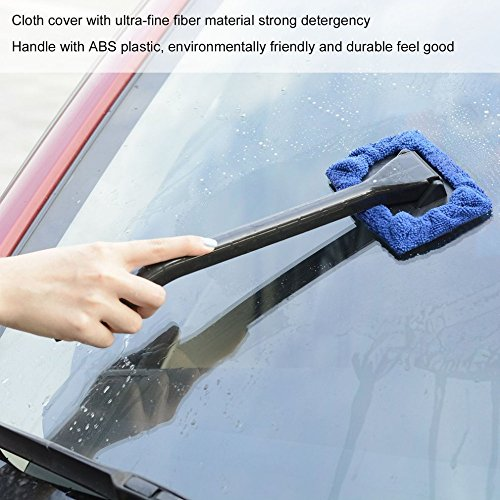 UltaPlay(TM) Portable Easy Installation Plastic Multiple Use Ergonomic Handle Microfiber Bonnet Windshield Easy Cleaner For Car/Home Glass ()