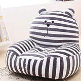 Kid Plush Bean Bag Chair, Strip Cartoon Plush Stuffed Kid Sofa seat Children's