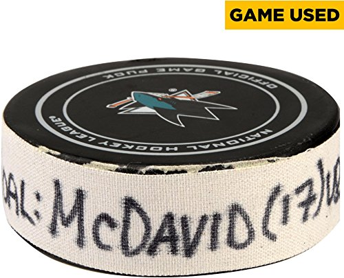 Connor-McDavid-Edmonton-Oilers-Game-Used-Goal-Puck-from-January-26-2017-vs-San-Jose-Sharks-Fanatics-Authentic-Certified