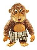 Tickles Brown Funny Chimpanzee Stuffed Soft Plush Toy Love Girl 58 cm
