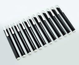 Pentel Tri Eraser - Retractable 3 Sided Erasers, Black Holder (Quantity of 12)