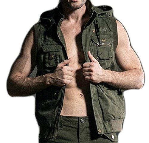 CC-JJ - Men Casual Vests Plus Size Male Big Size (SIZE : XXXL)