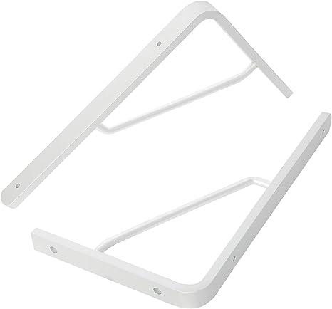 NovelBee 4pcs Thickened Solid Aluminum Triangle L Shape Shelf Bracket Supporter