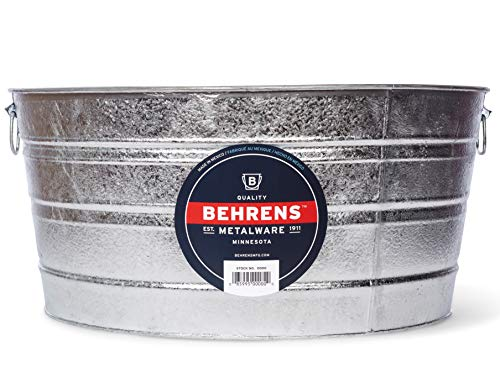 Behrens 3 17 Gallon Round Hot Dipped Steel Tub (Tub Galvanized Steel)