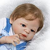 Full Silicone Body Reborn Baby Doll Boy Light