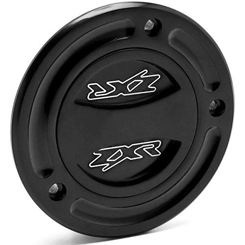 Krator Black Keyless Gas Cap Twist Off Fuel Tank Cap Logo For Kawasaki ZX-6R/636 2003-2006